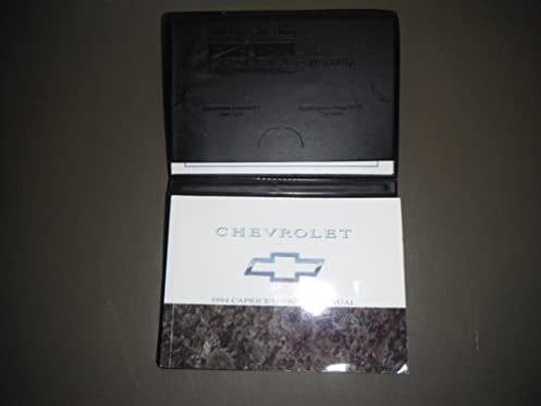 1994 chevy chevrolet caprice owners manual chevrolet amazon com books rh amazon com 2000 Chevy Aveo 1994 Chevrolet