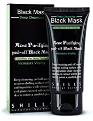 Purifying Peel off Black Mask, Blackhead Remover Mask, Acne Face Mask, Deep Cleansing Pore Peel off Pack, 50ml