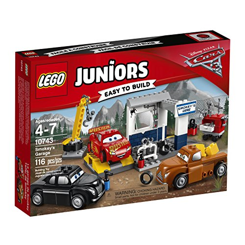 LEGO  Juniors Smokey's Garage 10743 Building Kit (Mcqueen Lightning Racetrack)