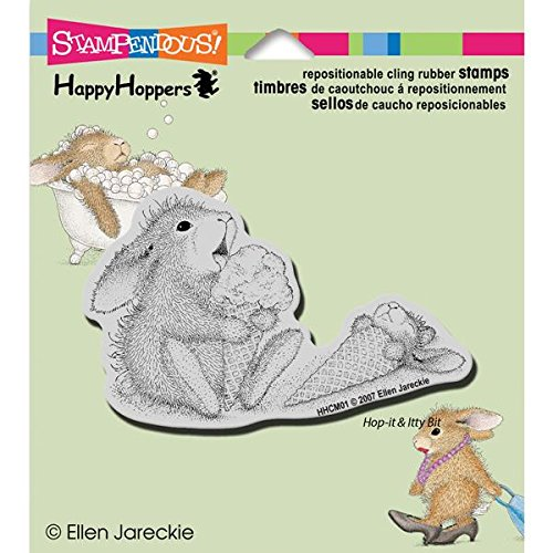 Stampendous Happyhopper Cling Rubber Stamp, 3.5 by 4-Inch, Ice Cream (Rubber Stamp Ice Cream compare prices)