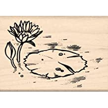 Water Lily Rubber Stamp - 1-3/4 inches x 2-1/2 inches