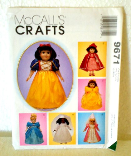 McCalls Crafts 9671 Sewing Pattern Doll Clothes 18