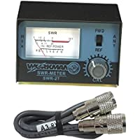 WORKMAN SWR-2T CB RADIO ANTENNA SWR METER W/ 3 COAX JUMPER CABLE KALIBUR ENDS