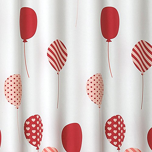 51uptPuBBbL - Lush Decor Flying Balloon Polyester Shower Curtain