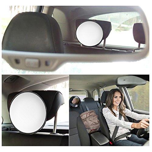 FineFun Espejo de coche para bebé , espejo de seguridad para el asiento trasero del bebé , para el cuidado del bebé , cuadrado, monitor de seguridad para niñ os espejo de seguridad para el asiento trasero del bebé