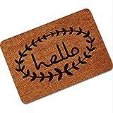 40x60cm Non Slip Rubber Floor Mat Funny Hey Hello Welcome Front Doormat Indoor Outdoor - Tools, Industrial & Scientific Hardware & Accessories - (#1) - 1 x Non Slip Floor Mat