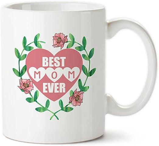 Gift Mug in the World Heart Mother Day Birthday Christmas Best MOM