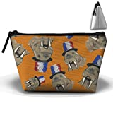 Tattooed Walrus With Cute Hat Makeup Office Storage Lightweight Luggage Organizers