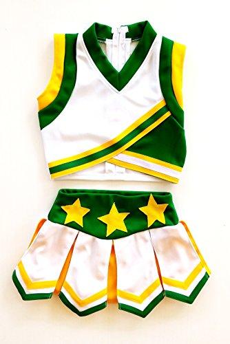 Little Girls' Cheerleader Cheerleading Outfit Uniform Costume Cosplay (X-Small 2/7,