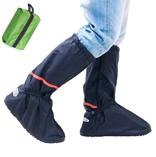 Whose Lemon Waterproof Women Men Shoes Cover High Boots Thicken PVC Reusable Rainy Snow Shoes Covers for Mortocycle Garden Hiking Travel with Waterproof Travel Bag(Bag Colors Randomly) XL by Whose Lemon