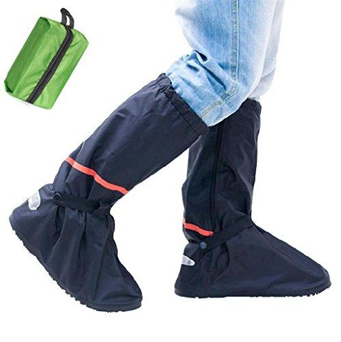Whose Lemon Waterproof Women Men Shoes Cover High Boots T...
