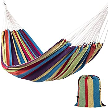sundale outdoor portable double size canvas hammock with carry bag 450 pounds capacity  tropical amazon     lazydaze hammocks outdoor portable double size canvas      rh   amazon