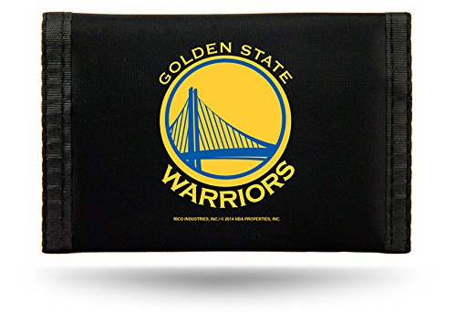 Rico Industries NBA Golden State Warriors Nylon Trifold Wallet ()