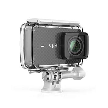 YI 4K+ - Cámara de Acción / Deportiva de 4K/60fps de pantalla táctil de 2.2 pulgadas con lente de ángulo amplio, carcasa impermeable, negro ...