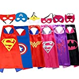 Ouwen Presents Best Christmas Popular Gifts for 3-8 Year Old Girls, Superhero Capes for Girls Popular Hottest Top Fun Cool Toys for Girls Age 3-8 6GPiece OWUSCM04