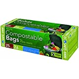 EcoSafe GKL032195-1 2-1/2-Gallon Compostable EcoBio Bags, 25-Count (2 Pack - 50 Bags)