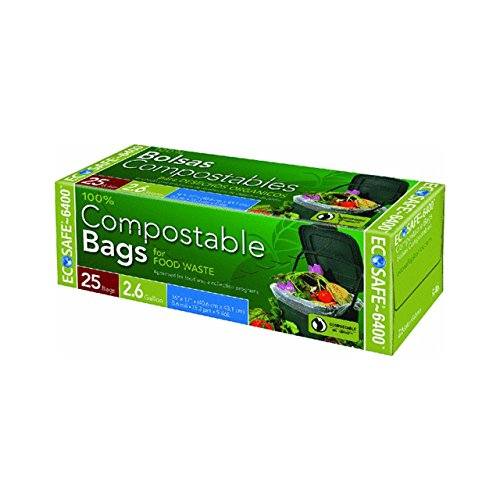 EcoSafe GKL032195-1 2-1/2-Gallon Compostable EcoBio Bags, 25-Count (2 Pack - 50 Bags) (Commercial Compost Bin compare prices)