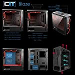 CiT-Blaze-PC-Gaming-Case-Mid-Tower-ATX-6-Halo-Single-Ring-Red-LED-Fans-Tempered-Glass-Water-Cooling-Ready-For-Enhanced-Gaming-Black