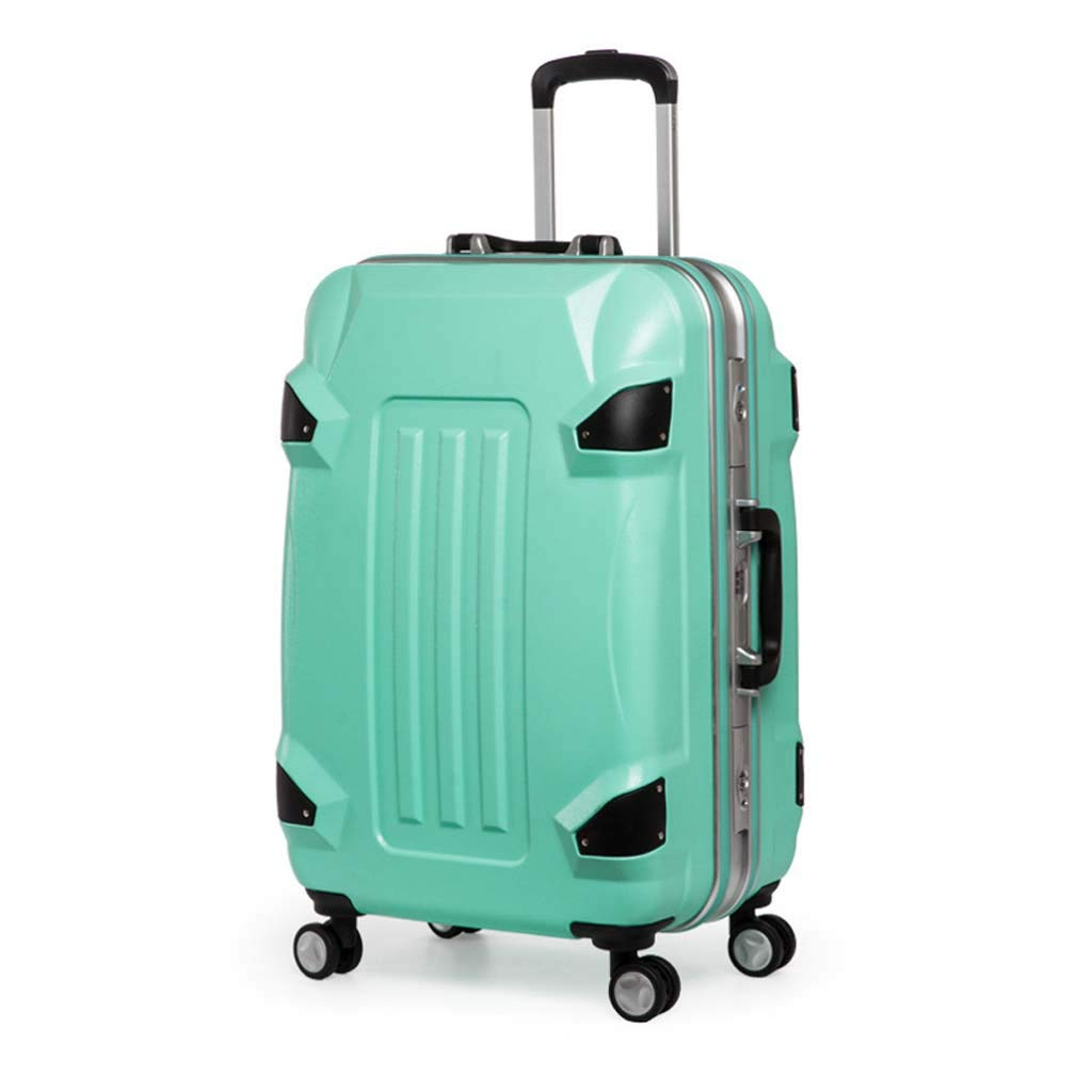 Male and Female Lightweight ABS Air Carrier Trolley Case Lock 4 Wheels Color : Green, Size : 20 inches CLOUD Luggage Sets Travel Suitcase