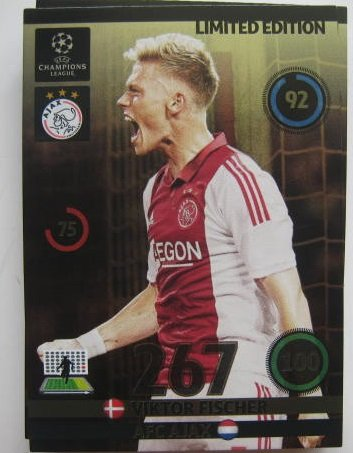 Victor Fischer Champions League Adrenalyn XL 2014 / 2015 14 / 15 2014 Limited Edition CARD (World Cup Fischer)