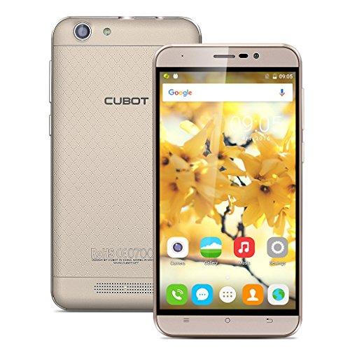 CUBOT Dinosaur 5.5 Zoll 4G-Smartphone ohne Vertrag Android 6.0 Dual SIM MT6735A Quad Core 1.3GHz 3GB RAM+16GB ROM Dual Kamera IPS HD Display Handy 4150mAh HotKnot WIFI Weiß