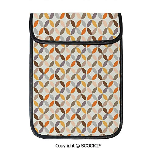 - SCOCICI Simple Protective Colorful Modern Spherical Complex Opposite Angled Cyclic Tiles Oval Print Pouch Bag Sleeve Case Cover for 12.9 inches Tablets