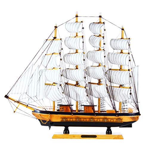 Mini Handmade Wooden Sailing Boats Model Assembly Nautical Ship Schooner Boat Decorations Gift