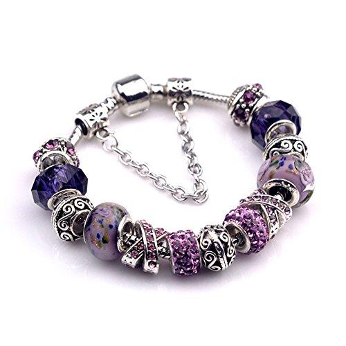 BENNINGCO Ladies Glass Crystal with Diamond Design