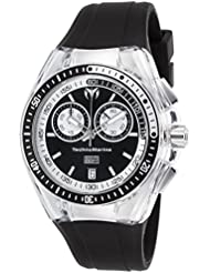 Technomarine Womens Cruise Quartz Stainless Steel and Silicone Casual Watch, Color:Black (Model: TM-115335)