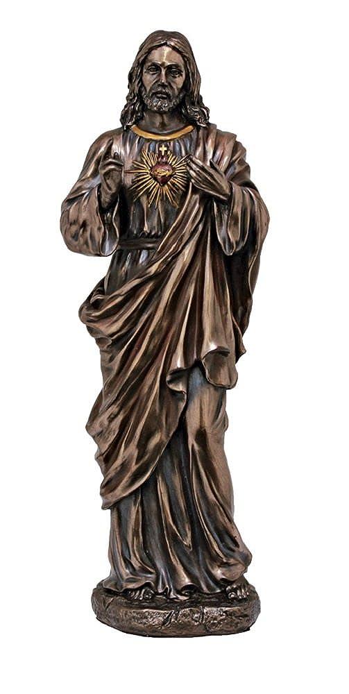 【正規逆輸入品】 A Sacred Heart Statue of Jesus A Statue Cast In Lightly手描きCold Cast Bronze、11インチ。 B01K02I8EC, 竹専門店の竹伊:4dab02fa --- a0267596.xsph.ru