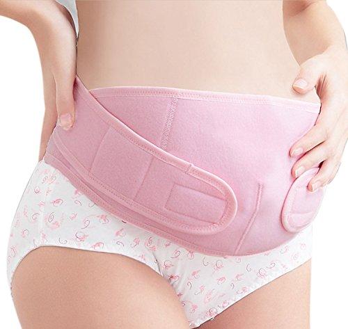 FEOYA - Faja Mujeres Embarazadas Banda de Maternidad del Vientre Firme Apoyo Prenatal Postparto Cinturón de Embarazo - Rosa - XL Rosa