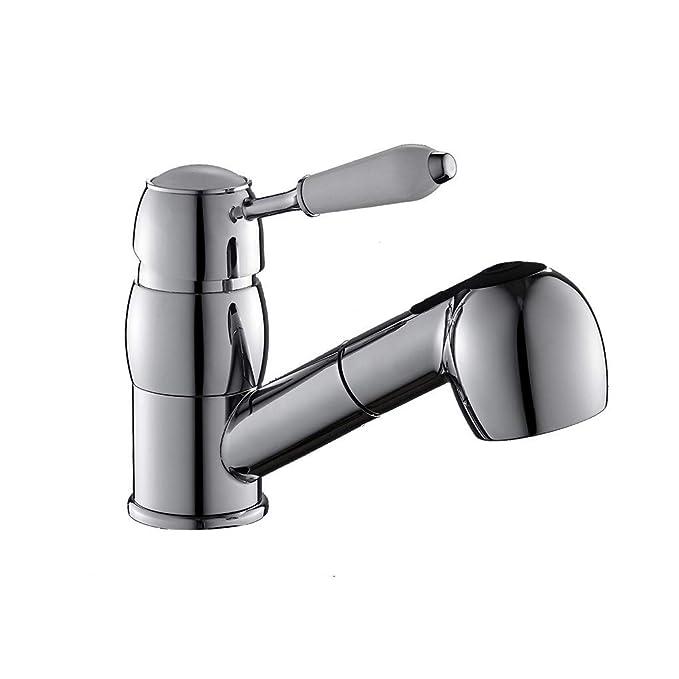 YAWEDA El cobre grifo del lavabo del baño grifo del fregadero de ...