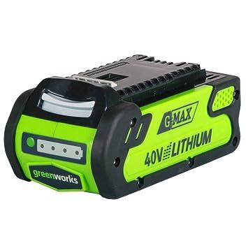 Greenworks Batería Li-Ion 40V 2Ah (sin cargador) - 29717: Amazon ...
