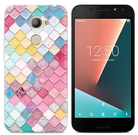 PREVOA Funda para VODAFONE SMART N8 - Colorful Silicona TPU Funda Case para VODAFONE SMART N8 Smartphone - 3