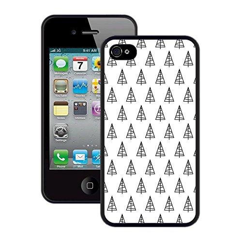 Weihnachtsbäume | Handgefertigt | iPhone 4 4s | Schwarze Hülle