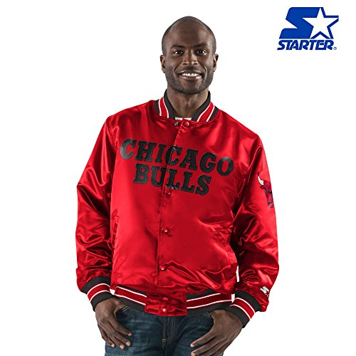 G-III Sports Chicago Bulls Starter Full Snap Satin Jacket