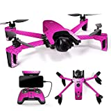 MightySkins Skin for Parrot Anafi Drone - Pink Diamond Plate | Protective, Durable, and Unique Vinyl Decal wrap Cover | Easy to Apply, Remove, and Change Styles | Made in The USA