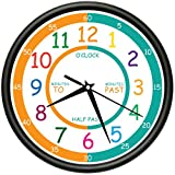 EASY TO READ TEACHER Wall Clock elementary students school kids room gift