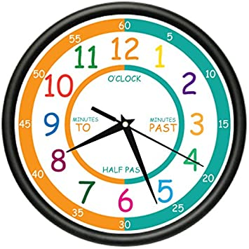 Amazoncom EASY TO READ TEACHER Wall Clock Elementary Students - Wall clock for kids room
