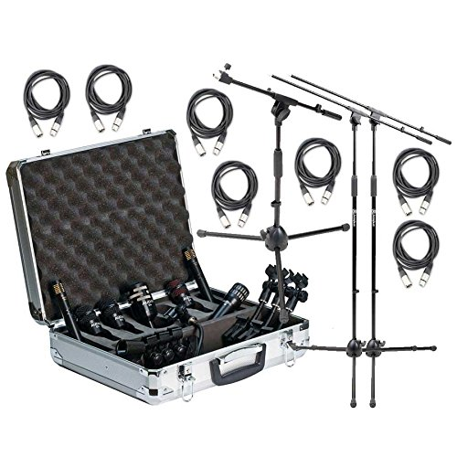 Audix DP7 Complete Drum Microphone Bundle with Stands and XLR Cables by Audix