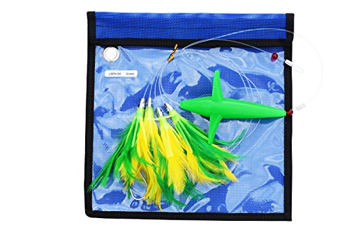 (EAT MY TACKLE Offshore fishing lure green daisy chain feather bird)