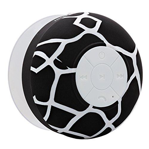 Aduro AquaSound WSP20 Shower Speaker, Portable Waterproof Wireless Bluetooth Speaker (Black Giraffe)