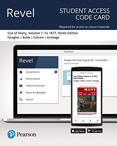 Revel for Out of Many: A History of the American People, Volume 1 -- Access Card (9th Edition)