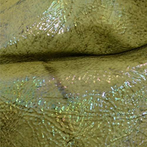 - Patent Iridescent Aloe Green Semi Grainy Cow Hide 4