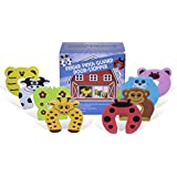 Joy Baby Finger Pinch Guard Foam Door Stopper Animal Barn, Protects Fingers Hands, Baby Safety Pet Friendly Doorstop 8PC Edge Corner Guard Set