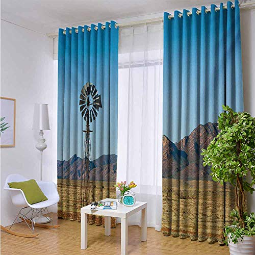 Blocking Out Sunlight Curtains, Grommet Top Small Window Drapes for Bedroom 108