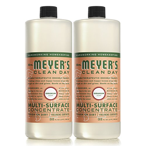 Surface Cleaner Concentrate (MRS MEYERS Multi-Surface Concentrate, Geranium, 32 Fluid Ounce (Pack of 2))