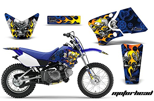 Yamaha TTR90 2000-2007 MX Dirt Bike Graphic Kit Sticker Decals TTR 90 MOTORHEAD BLUE Image Graphics 2000