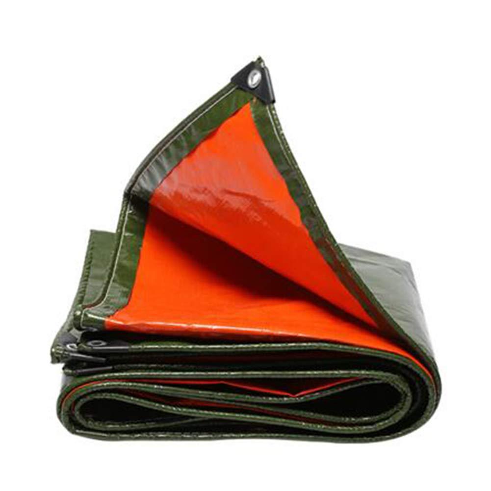 DALL ターポリン アウトドア 防水 タープ 耐寒性 グランドシート カバー ヘビーデューティー 260G /M² (色 : Green, サイズ さいず : 4*5m) 4*5m Green B07KV9GV6T