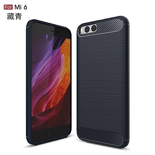 Funda Xiaomi MI 6,Manyip Alta Calidad Ultra Slim Anti-Rasguño y Resistente Huellas Dactilares Totalmente Protectora Caso de Cover Case Material de fibra de carbono TPU Adecuado para el Xiaomi MI 6 C